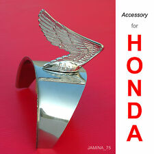 Honda Touring C200 CA200 C201 CM90 CM91 Headlight Chrome Cap Visor Wing Emblem