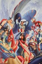 ALEX ROSS rare ALL NEW ALL DIFFERENT AVENGERS Mini Canvas NEW giclee with COA