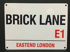 Vintage Style Metal Street Sign Brick Lane Eastend London Retro Wall Plaques