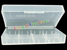 1 x 18650/16340/CR123A Transparent White Battery Case Holder Storage Box