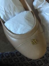 New Tory Burch York Ballet Flats Camellia Pink 9 Wide