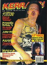 Scorpions on Kerrang Cover 1991   Queensryche   Skid Row   Vain   David Lee Roth