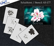 Step by Step Airbrush Stencil AS-177 M ~ Template ~ UMR-Design