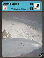 NORTH FACE EXTREMES Serge Cachat-Rosset Alpine Skiing 1979 SPORTSCASTER CARD