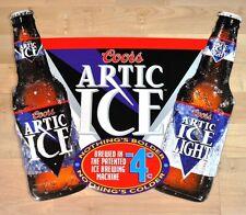 Grande Coors Artic Ghiaccio Birra Bottiglie USA Segno Latta Metallo Targa