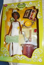 """NEW"" Disney Store 11"" DELUXE SINGING TIANA Figure Barbie Doll PRINCESS & FROG"