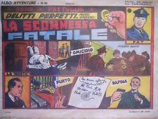 Radio Pattuglia Albo Avventure n°24 1947 Delitti perfetti ed. Capriotti  [G319]