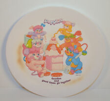 1986 Vintage Popples Kids Childrens Dinner Plate Dishes Potatoe Chip Puzzle Cool