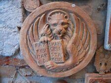 Bassorilievo leone di San Marco  in cotto refrattario da appendere 30 cm diametr