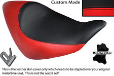 BRIGHT RED & BLACK CUSTOM FITS HONDA NRX RUNE 1800 SOLO LEATHER SEAT COVER