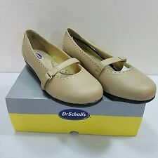 10W Dr Scholl's Womens Tan Leather Mary Jane Double Air Pillo Insoles Shoes New