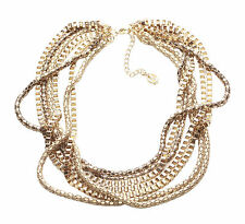 Regal Neckline 7 Strand Gorgeous Gold Choker 43-50cm adjustable lentgh (NS16)