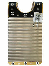"Washboard Zydeco Rubboard Black & Gold  Free Scratchers Stainless Steel ""On Sale"