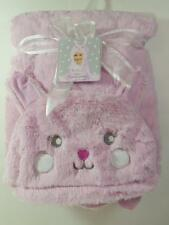 New Imagine Girls Plush Pink Fur & Minky Fur Hooded BUNNY RABBIT Blanket Easter?