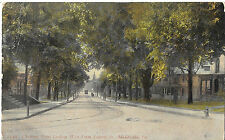 CHESTNUT STREET LOOKING WEST FROM LIBERTY ST MEADVILLE PA POSTCARD