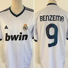 REAL MADRID 2012 110 Years Football Shirt HOME  #9 BENZEMA Large L