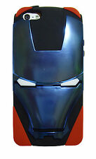Iron Man Hybird PC Metallic Mask & Silicone 2 in 1 Stand Case For iPhone 4 4S