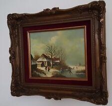 Ölgemälde Netherlands Nederland J. KOUDERN oil painting old village schilderijen