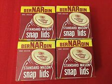 Lot Of 4 Boxes Vintage Bernardin Standard Mason Snap Lids 48 Pieces NOS