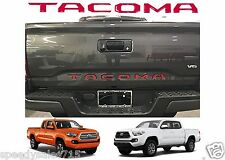 Red Tailgate Letters Inserts For 2016-2017 Toyota Tacoma New Free Shipping USA