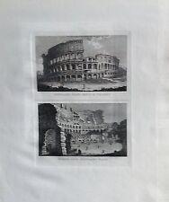 ITALIA, ROMA,IL COLISEO, GRABADO ORIGINAL DOMENICO PRONTI, 1795.