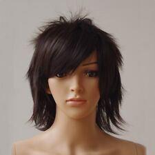 Male Female Short Straight Full Wigs Hair Hinata Anime Cosplay Halloween Costume