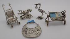 58g Lavoro Lotto-Vintage Argento 5 x ITALIANO Miniatures-Bambini Collezione #6