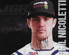 "SIGNED 2016 PHIL NICOLETTI ""AUTOTRADER JOE GIBBS"" #34 AMA SUPERCROSS POSTCARD"