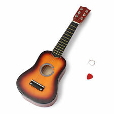 "KIDS CHILDRENS 21"" 6 STRING UKELELE UKE MUSICAL INSTRUMENT FIRST GUITAR ORANGE"