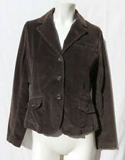 TALBOTS brown soft stretch corduroy fitted blazer jacket size 8