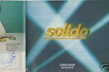 CATALOGUE SOLIDO 1978-1979 COMPETITION TOURISME TONERGAM MILITAIRE AGE D'OR g