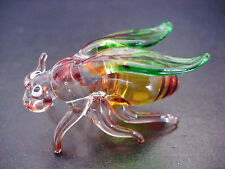 Glass BEE WASP INSECT Colourfully Painted Glass Ornament Collectors Item Animal