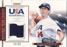 2012 Team USA Baseball BLAKE RUTHERFORD Game Used Jersey 58/99 Yankees