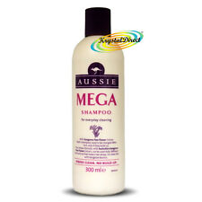 Aussie Mega Shampoo 300ml For Everyday Cleaning With Kangaroo Paw Flower Extract