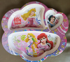ZAK DISNEY Princess Divided dinner PLATE KIDS toddler sections Snow White Ariel