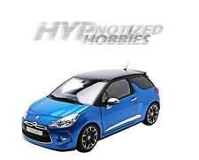 NOREV 1:18 2011 CITROEN DS3 BLUE WITH BLACK TOP DIE-CAST BLUE 181539