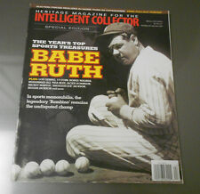 2013 HERITAGE Magazine Intelegent Collector BABE RUTH Sports Treasures 108 pgs