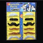 New  Set Of 12 Novelty Fake Moustache Mustache Fancy Dress Party Self Adhesive