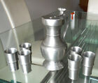RARE 7 Pc GENEVE PEWTER WINE SET - CUPS AND LIDDED PITCHER