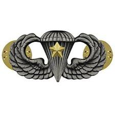 Army Badge Regulation Size Combat Parachute Fifth Award  Silver Oxidize