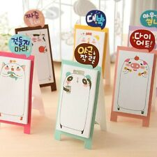 1× Stand UP Kawaii Cute animal Message Memo Pad Korean stationery Sticky Notes