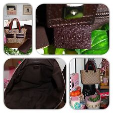 FASHIONABLE GUCCI EXTRA LARGE GG MONOGRAM DIAPER W/PAD PURSE/TOTE/HANDBAG!