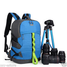 Waterproof Blue DSLR SLR Digital Camera Backpack Bag for Canon Nikon Pentax Sony