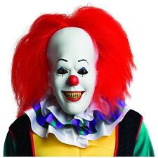 PENNYWISE Adult Size Scary Clown Costume Mask w/ Hair It The Movie