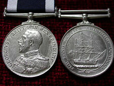 Replica Copy WW1 GV Admirals Bust Royal Naval Long Service Good Conduct Medal