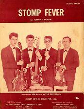 THE DENVERMEN (JOHNNY DEVLIN) - STOMP FEVER -  VINTAGE SHEET MUSIC - AUSTRALIA