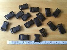 "Single 3/4"" Duraflex Stealth Dark Brown Plastic Buckles/Stealth"