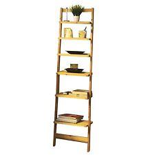 Holz Leiterregal - 6 Böden - Badezimmerregal Standregal Bücherregal Wand Regal