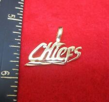 CHIEFS SPORTS TEAM 14KT GOLD EP CHARM PENDANT