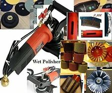 Wet Granite Concrete polisher sinkwork polishing drum 18 pad cup core drill bit